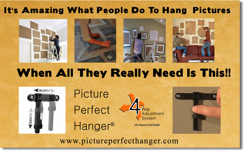 How to hang level straigt pictures