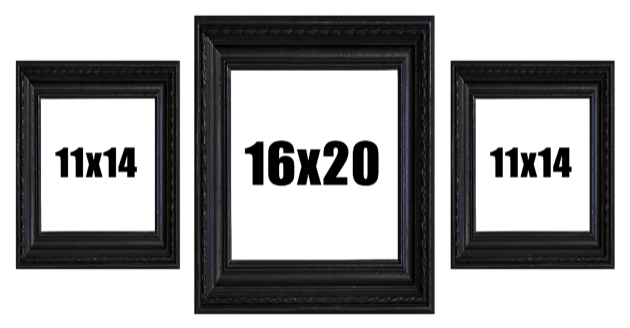 3 Large Picture Frame Layout