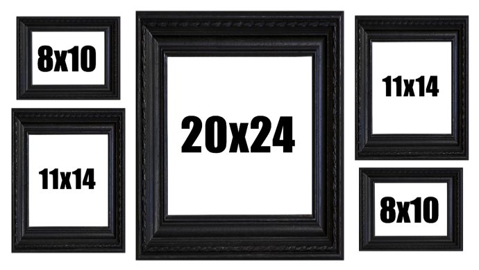 Group Of 5 Picture Frames