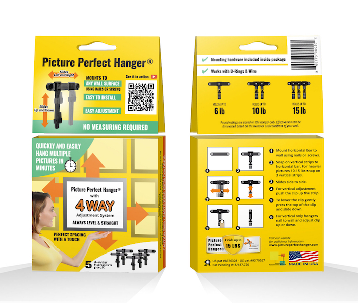Picture Perfect Hanger The Adjustable Picture Hanging Hook